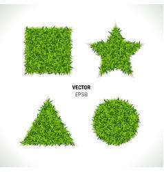 Green grass circle vector