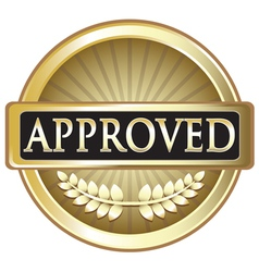 Approved pure gold award vector