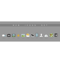 Website and app design flat icons set vector