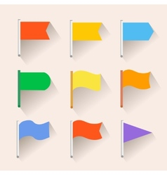 Set of flag icons flat style vector