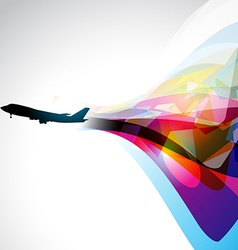Airplane artwork vector