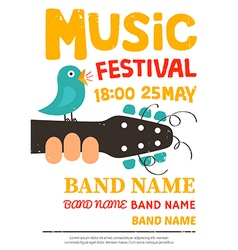 Acoustic music festival poster vector