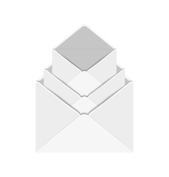 Modern 3 envelope on white vector