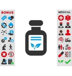 Natural drugs icon vector