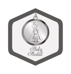 Holy medal design vector