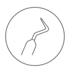 Dental scraper line icon vector