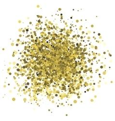 Abstract of random golden dots vector