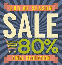 80 percent end of season sale vector