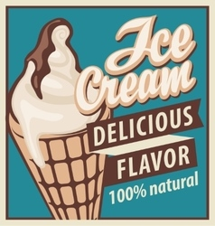 Ice cream in retro style vector