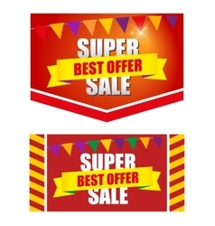 Design banner template discounts vector