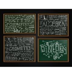 School blackboards set vector image