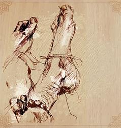 An hand drawn - foot vector