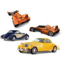 auto models vector image