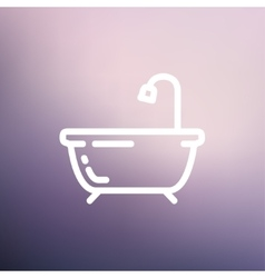 Bathtub thin line icon vector image