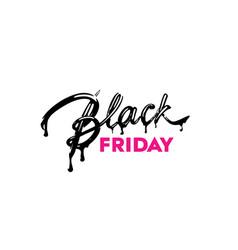 black friday sale label ad vector image