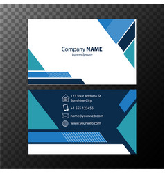 Businesscard template with blue pattern vector