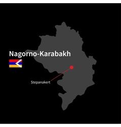 Detailed map of Nagorno-Karabakh and capital city vector image vector image