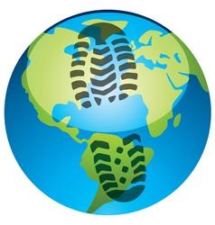 global footprint vector image