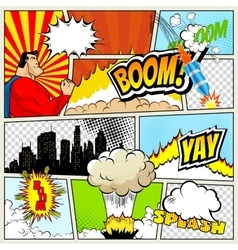 High detail mock-up of typical comic book vector