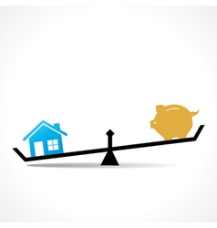 home is more costly than save money vector image vector image