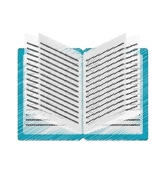 Isolated open book design vector image vector image
