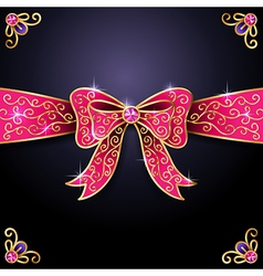 jewel bow vector image