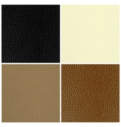 Leather textures vector