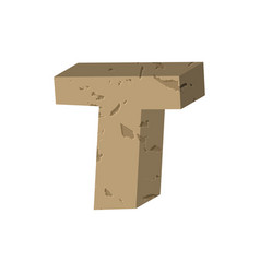 letter t stone font rock alphabet symbol stones vector image vector image
