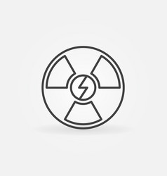 Nuclear energy outline icon vector