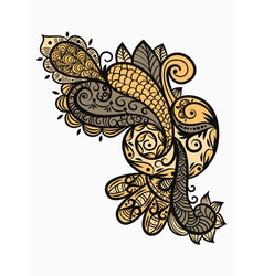 paisley design element vector image