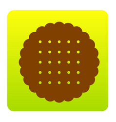 Pyramid sign brown icon at vector