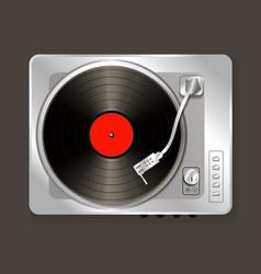 Realistic music gramophone vinyl vector