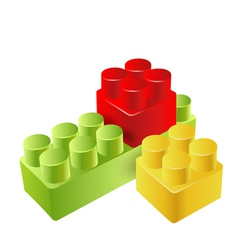 realistic toy blocks vector image vector image