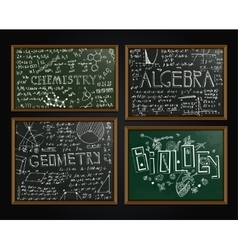 School blackboards set vector
