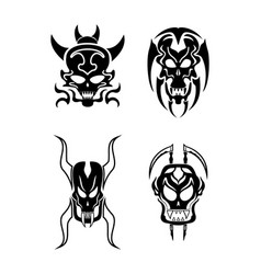 skull tribal tattoo vector image vector image