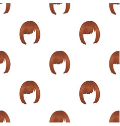 Squareback hairstyle single icon in cartoon style vector