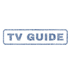 Tv guide textile stamp vector