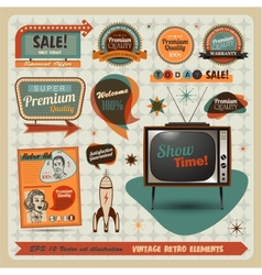 Vintage And Retro Design Elements vector image vector image