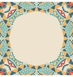 vintage marine ornament border frame vector image