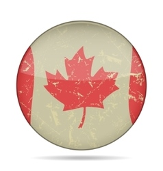 Waving grunge flag of canada vector