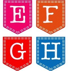 Letters e f g h vector