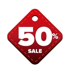 Sale fifty percent pricetag red vector