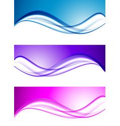 Abstract elegant waves set vector