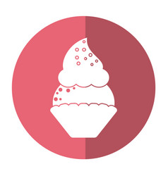 women day cupcake dessert sweet shadow vector image