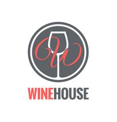 Wine glass logo design background vector