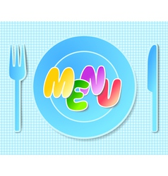 Paper tableware background for menus vector