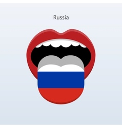 Russia language abstract human tongue vector