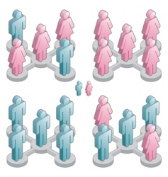 People networking vector