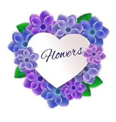 Frame of flowers vector