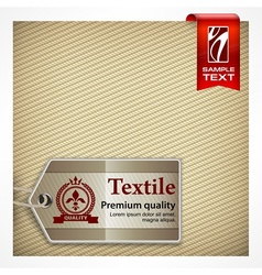 Label on textile vector
